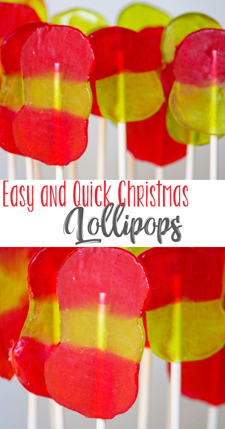 Festive, colorful and made with your favorite candy, you can make these greatEasy and Quick Lollipops for Christmas and keep them all for yourself. Or pop them into wrappers and give them as a gift to your friends and loved ones.