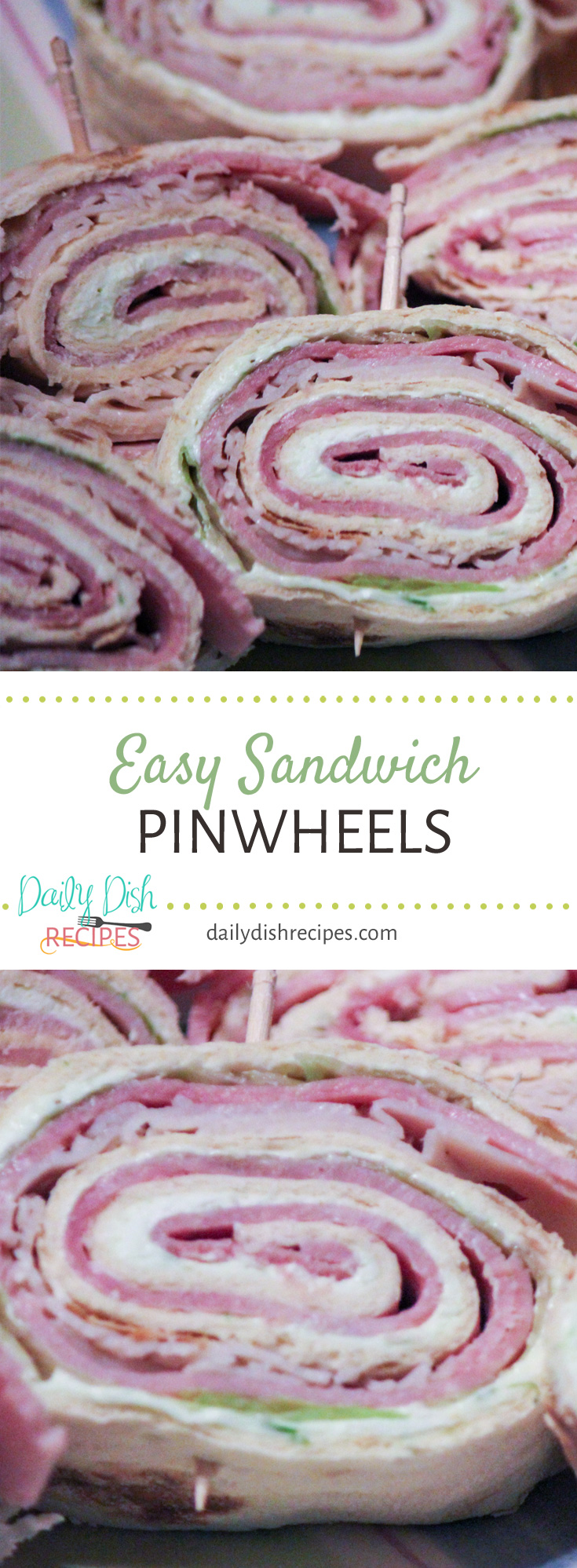 Want to know how to make Easy Sandwich Pinwheels? This recipe makes it easy, put everything together, roll and slice! Such a great appetizer!