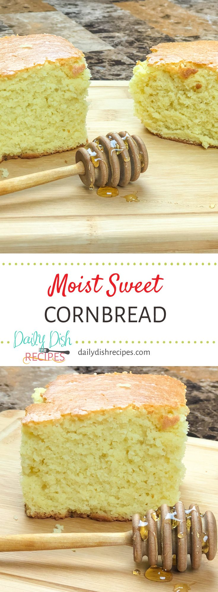 This award winning sweet cornbread recipe is full of moist sweet flavor. It really is the perfect cornbread!