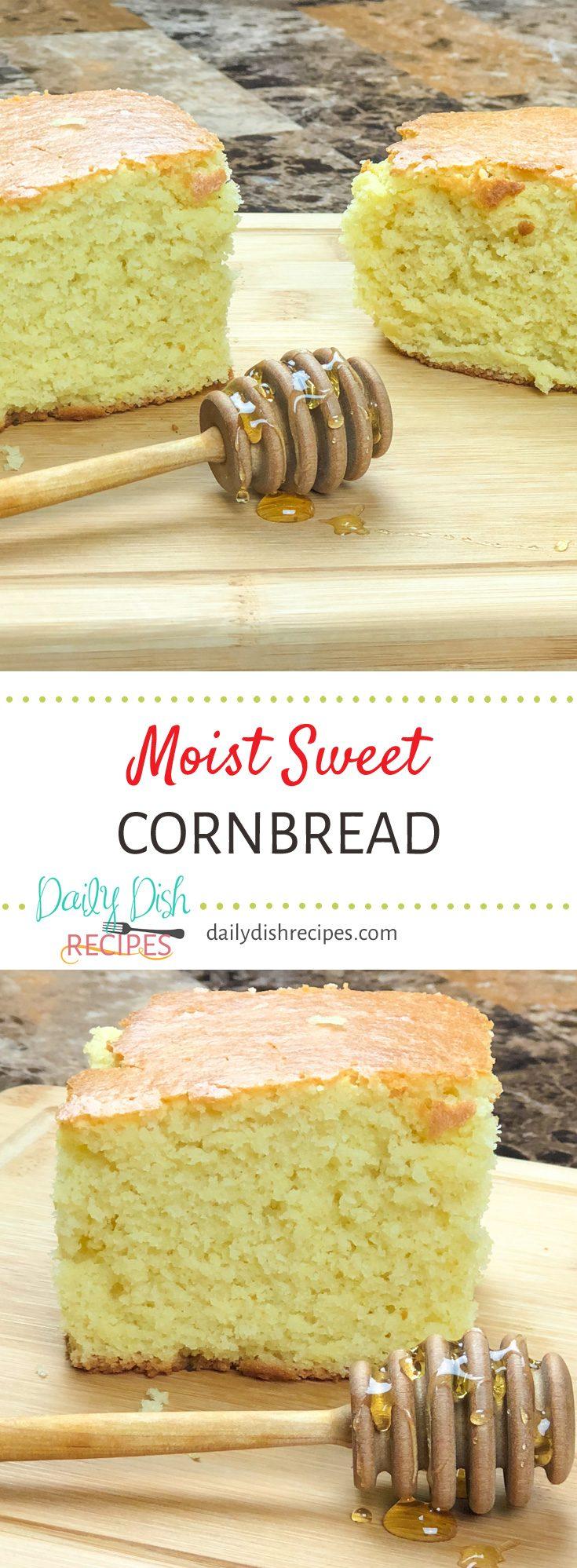 This award winning sweet cornbread recipe is full of moist sweet flavor. It really is the perfect cornbread!