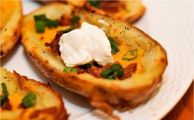 Delicious and Healthy Loaded Potato Skins