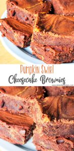 Pumpkin Swirl Cheesecake Brownies