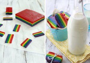 Rainbow Slice cookies