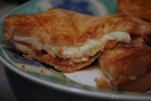 caprese mozzarella basil tomato sandwich