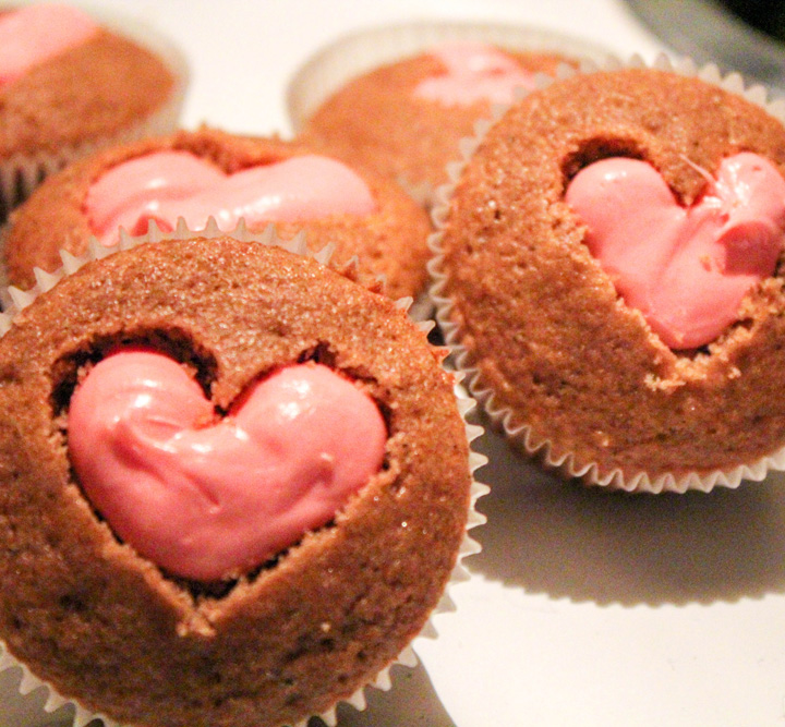 Buttermilk Spice Cupcakes with Cherry Frosting