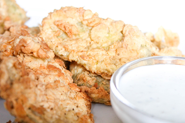 Homemade Fried Pickles with From Scratch Buttermilk Ranch