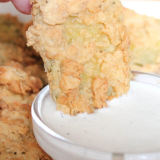 Homemade Fried Pickles with From Scratch Buttermilk Ranch Dressing