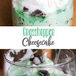 Easy Grasshopper Cheesecake