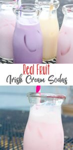 Homemade Real Fruit Irish Cream Soda