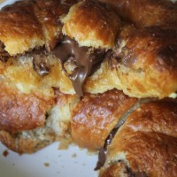 grilled nutella crosissants