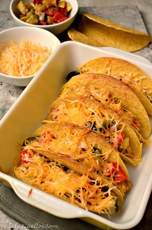 baked vegetable tacos