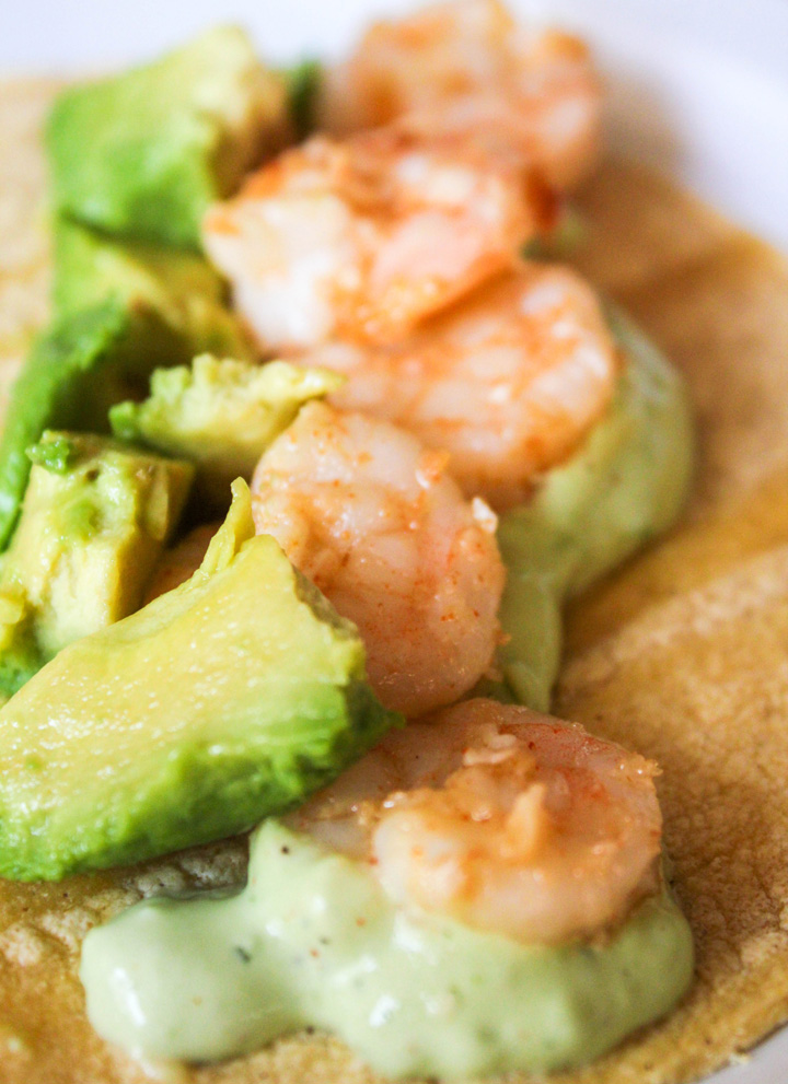 Easy Shrimp Tacos with Jalapeno Ranch Sauce
