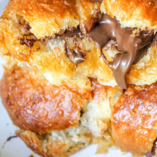 Grilled Nutella Croissants