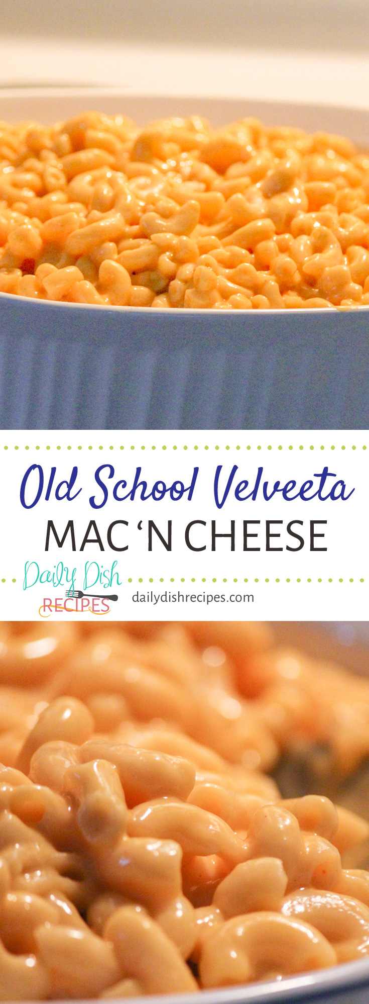 Creamy delicious Old School Velveeta Macaroni and Cheese. Why not take a little blast from the past and enjoy this delicious and super easy way to make Mac 'N Cheese!