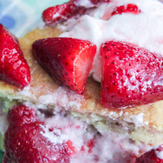 Strawberry Shortcake with Strawberry Whipped Cream