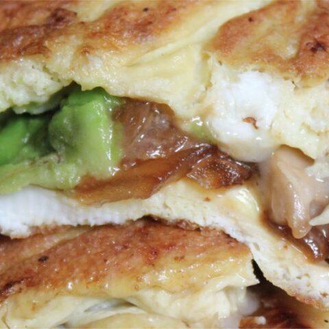 Avocado Brie & Mushroom Omelette