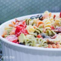 Creamy Bacon Avocado Pasta Salad