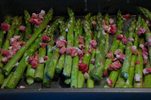 asparagus pancetta