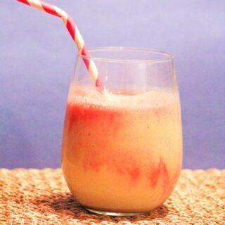 Peach Raspberry Melba Smoothies