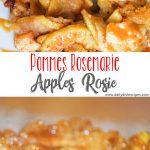Pommes Rosemarie: Apples Rosie