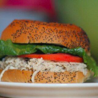 Chicken Caesar Sandwiches in the crockpot