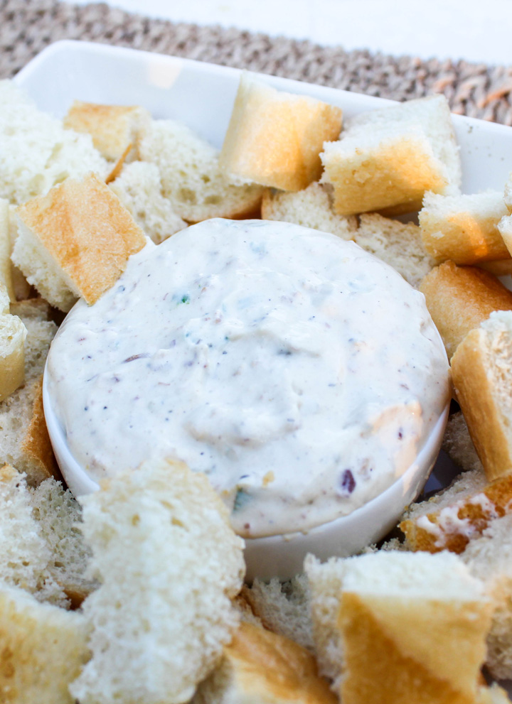 Roasted Garlic Bacon Dip for Tailgating