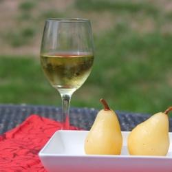 Cinnamon Wine Poached Pears
