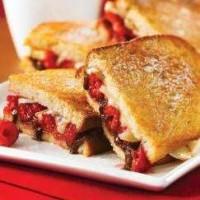 Brie and Raspberry Panini with Hazelnut Spread