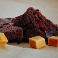 Dark Chocolate Caramel Brownies