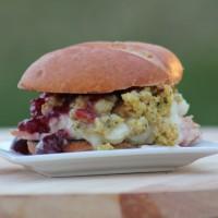 Thanksgiving Leftovers Turkey Sandwich