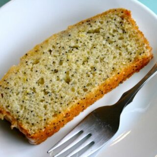 Olive Oil Citrus Poppyseed Loaf with Citrus Vanilla Glaze