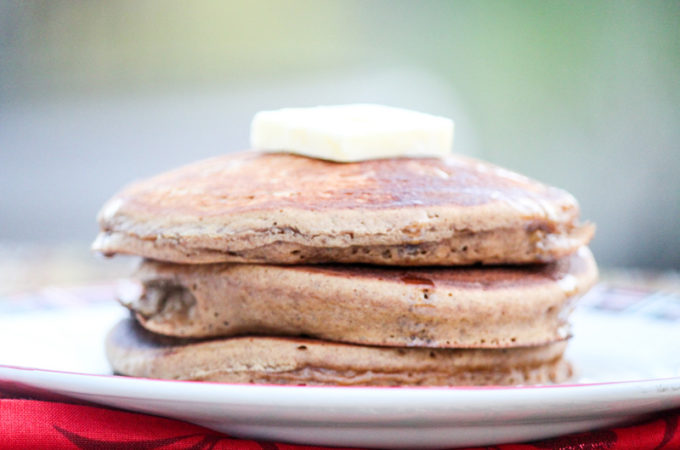 Spiced Gingerbread Pancakes