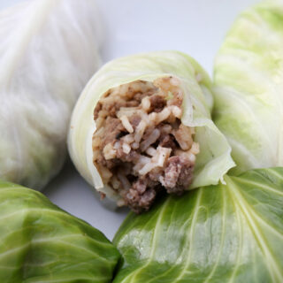 Cabbage Rolls from Leftovers