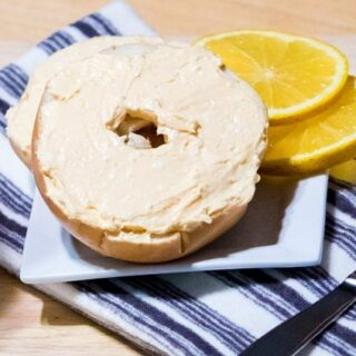 Homemade Bagels with Mimosa Cream Cheese Spread