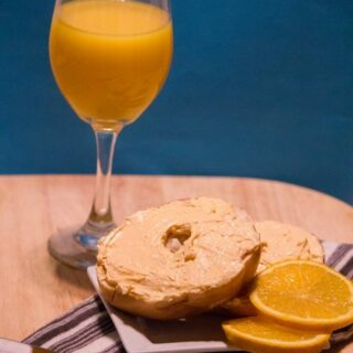Mimosa Cream Cheese Spread for Bagels or Toast
