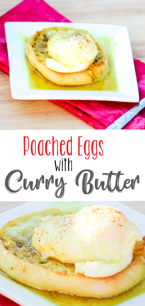 Poached Eggs with Curry Butter