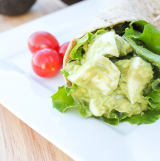 Skinny Avocado Egg Salad Wraps