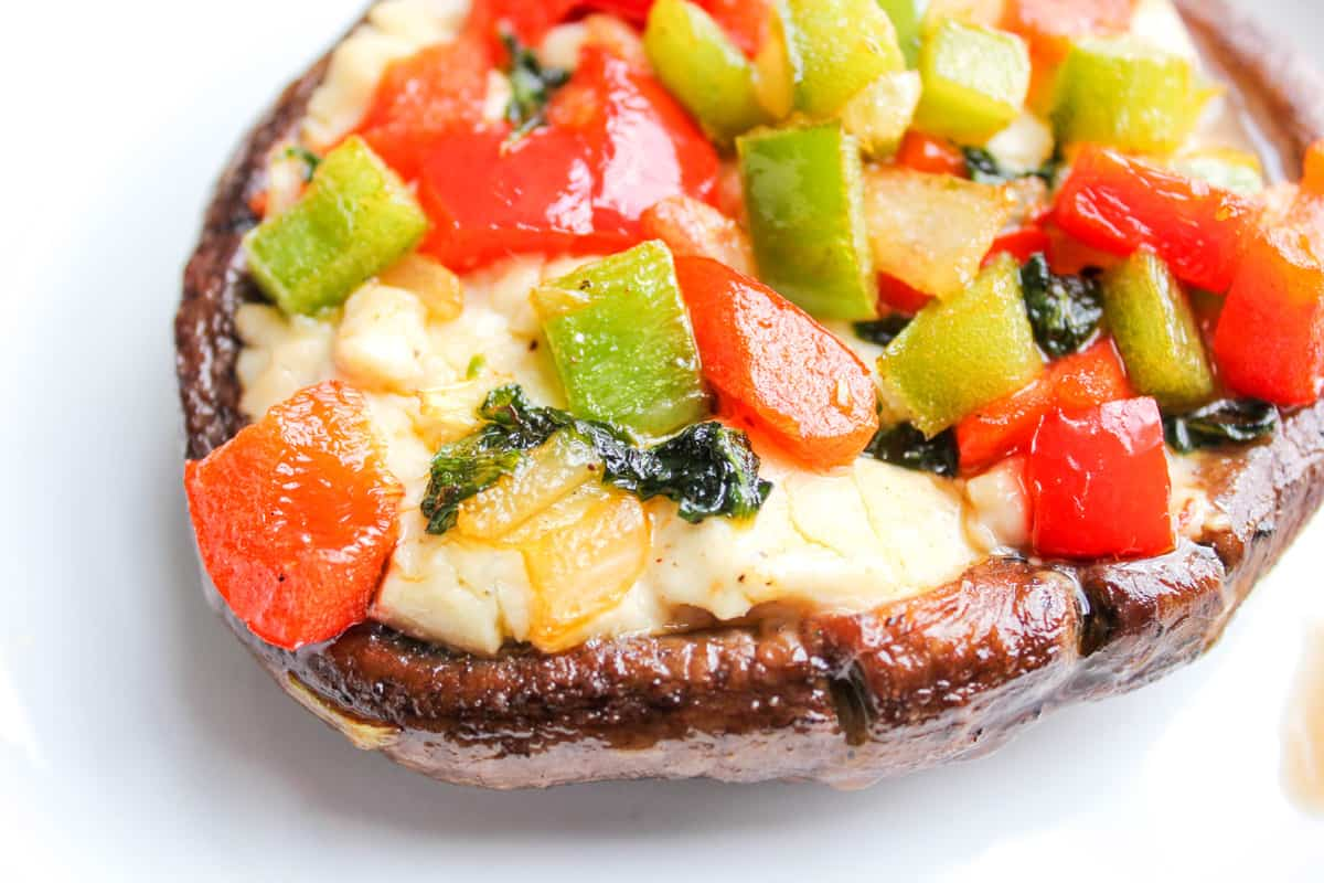 Grilled Veggie Portabella Pizzas