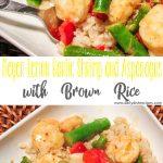Meyer Lemon Garlic Shrimp and Asparagus