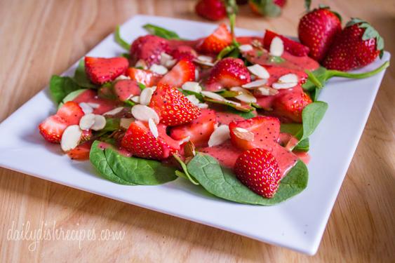 Strawberry, Avocado, Spinach Salad with Strawberry Vinaigrette 2