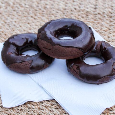 Chocolate Rum Donuts with Chocolate Rum Ganache Glaze