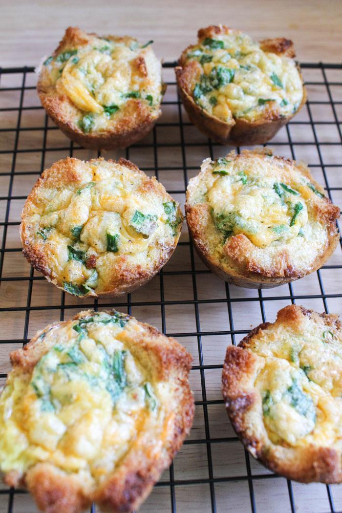 Green Onion Egg Toast Tarts