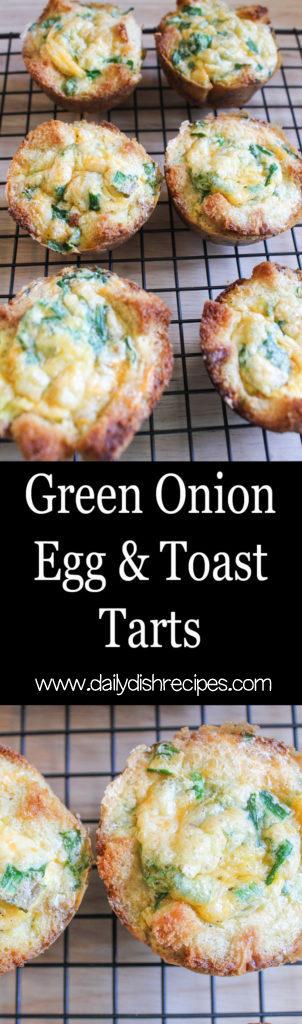 Green Onion Egg and Toast Tarts