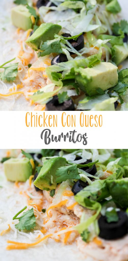 Chicken Con Queso Burritos