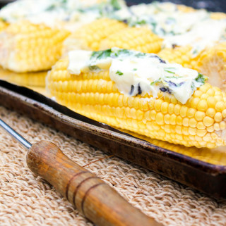 Grilled Corn with Garlic Herb Butter