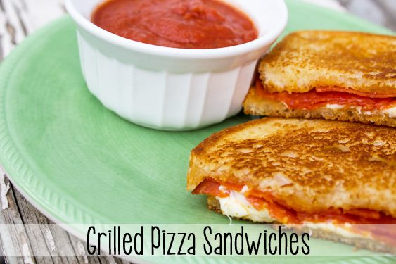 Grilled Pizza Sandwiches