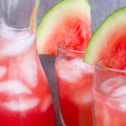 Watermelon Agua Fresca with Rose Water