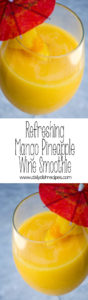 Refreshing Mango Pineapple Wine Smoothie