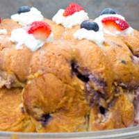 Strawberry Blueberry Monkey Bread Stuffed