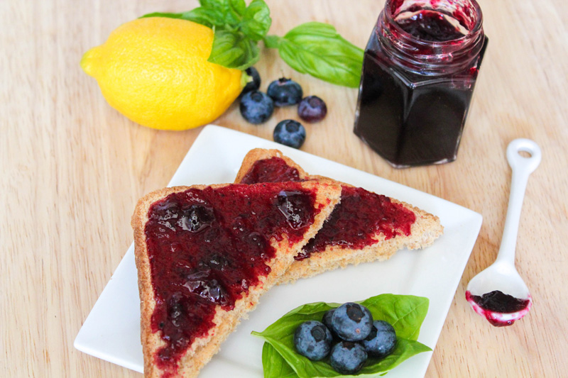 Blueberry Lemon Basil Jam | Daily Dish Recipes